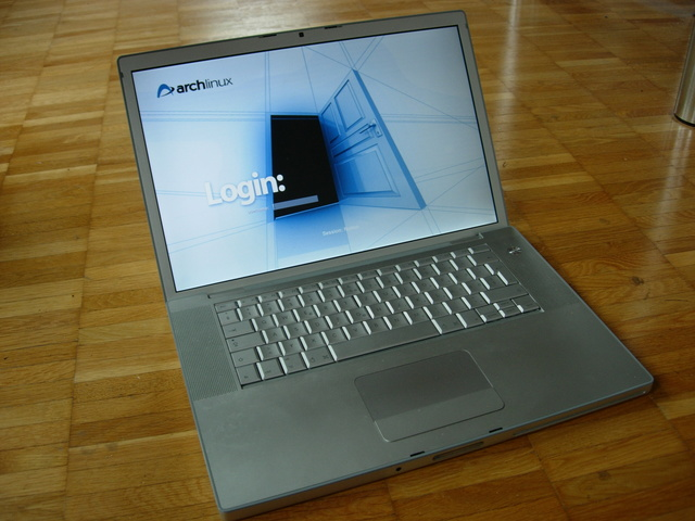 Archlinux on a MacBook Pro 15'' Model A1211